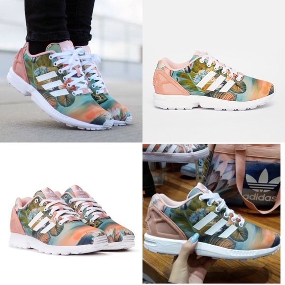 quality design 7764d 66240 adidas • ZX Flux Dusty Pink Lotus Sunset